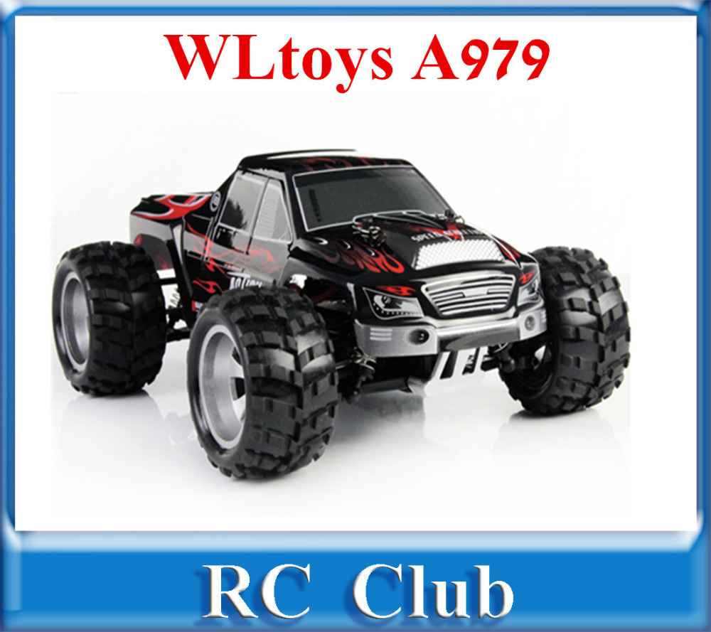 WLtoys A979 1:18 Full Scale Remote Control Car RC Monster Truck 4WD RC Car with Shock System 50KM/H new arrival rc car wltoys a979 1 18 2 4gh 4wd monster with high speed race toy car remote control truck trailer ready to go