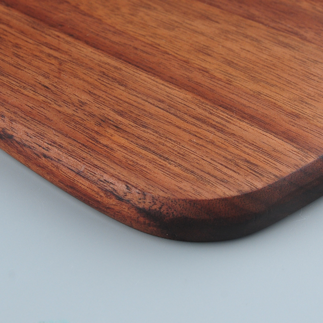 1pc RSCHEF Black Walnut Chopping Blocks Kitchen Wood Food Plate Wooden Pizza Sushi Bread Whole Wood Tray Cutting Board No Paint 4
