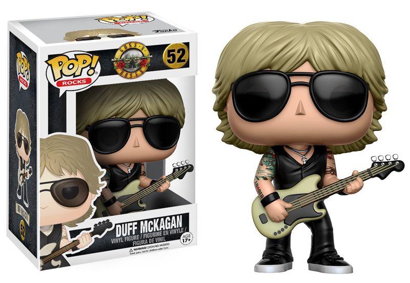 Funko pop Official Rocks: Guns N Roses - Duff Mckagan Vinyl Action Figure Collectible Model Toy with Original Box  funko pop marvel batman 84 pvc action figure collectible model toy 12cm kt2370