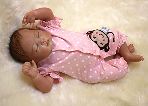 """Toddler Girl Dolls 20/"""" Realistic Soft Silicone Reborn Baby Girl Dolls Baby Gifts"""