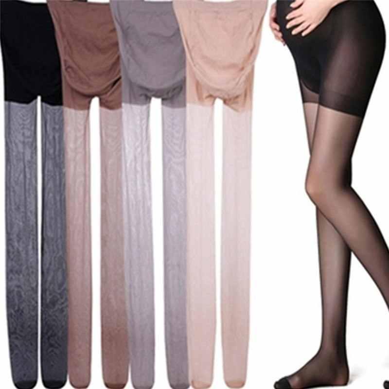Las nuevas mujeres embarazo medias ajustable leggings elásticos altos de maternidad verano Ultra ThinTights medias embarazada