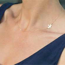 Ahmed ювелирное изделие, простое ожерелье из сплава с птицами, цепочки на ключицы, очаровательные женские модные ювелирные изделия, ожерелье макси для женщин