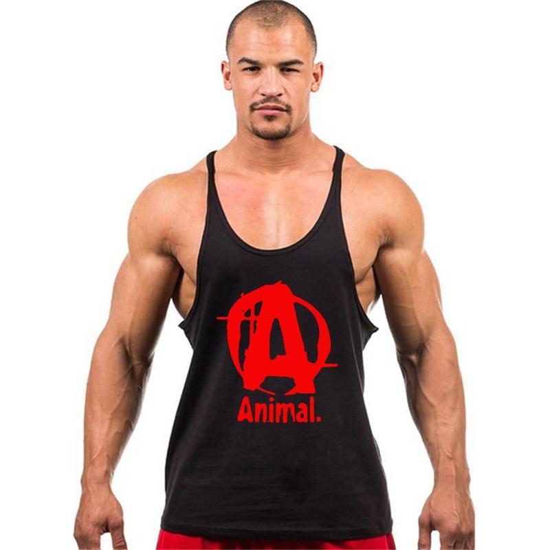 2017Gyms Bodybuilding Brand   Tank     Top   Men Stringer   Tank     Top   Fitness Singlet Sleeveless shirt Workout Man Undershirt Clothing
