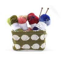 Knitting Tools Desktop Bag Stand Box Multifunction Waterproof Cotton and Linen Storage Bag For Needles and Yarns