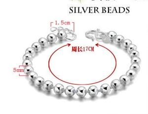 Image 3 - Высокое качество Серебряный цвет счастливый круглый молитва Бусы Браслеты и браслеты для мужчин и женщин модные ювелирные изделия S B10