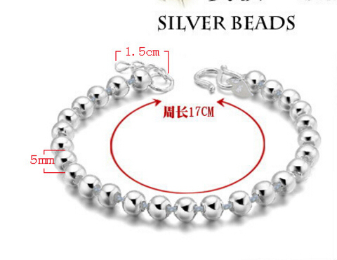 High Quality 925 Sterling Silver Lucky Round Prayer Beads Bracelets & Bangles For Men and Women Fashion Jewelry S-B10