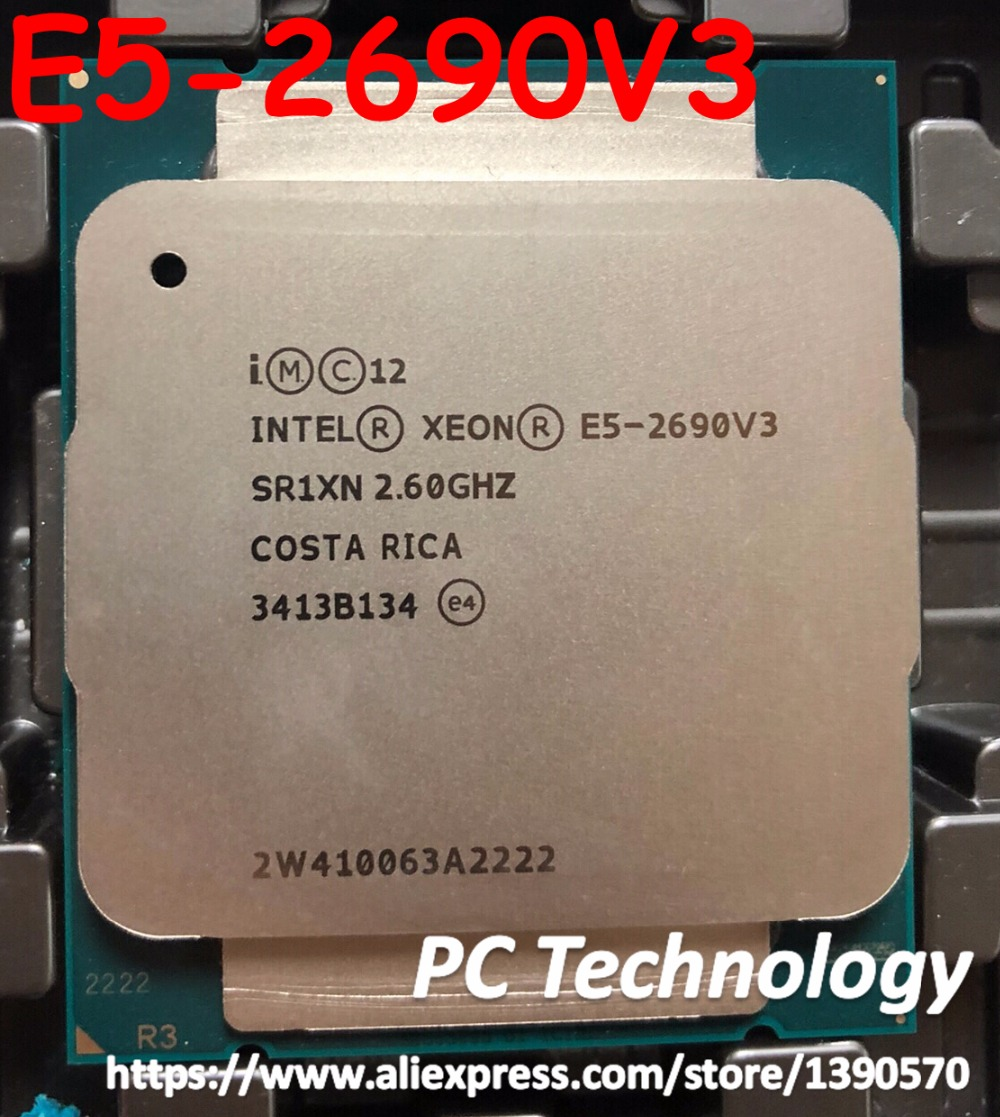 Original Intel Xeon E5 2690V3 E5 2690V3 CPU QS 2 60GHZ 12 Core 30M LGA2011 3