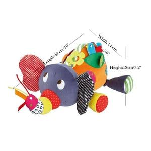 Image 4 - תינוק צעצועי 0 6 12 חודשים קטיפה פיל צעצועים חינוכיים עבור תינוק בנים 1 שנה כדי לתלות במיטה עגלת