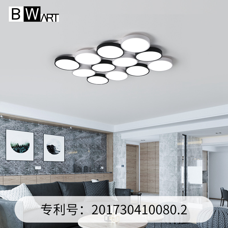 BWART Modern LED ceiling lights for living dining room bedroom with remote control luxury Large Black White Round ceiling lamp black or white rectangle living room bedroom modern led ceiling lights white color square rings study room ceiling lamp fixtures