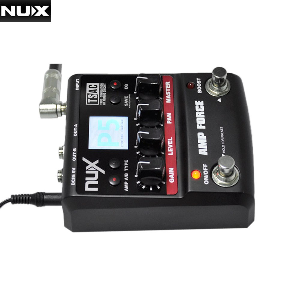 nux guitar pedal amp force modeling amplifier simulator electric effect pedal high quality 12. Black Bedroom Furniture Sets. Home Design Ideas