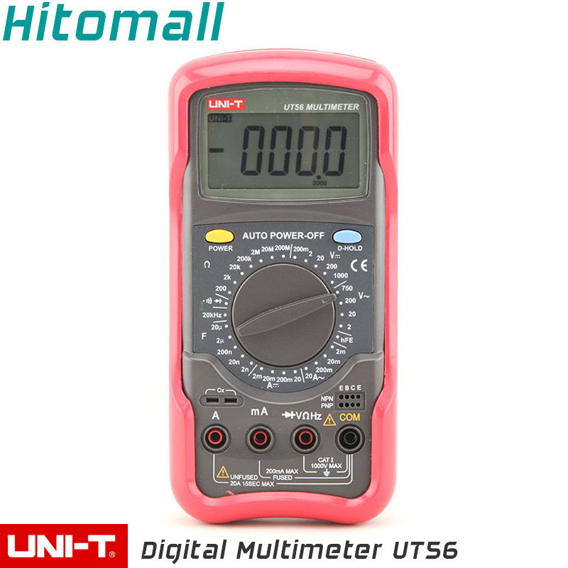 True RMS Professional Manual Range 20000 Counts 20A 1000V Resistance Capacitance Frequency UNI-T Digital Multimeter UT56 my68 handheld auto range digital multimeter dmm w capacitance frequency