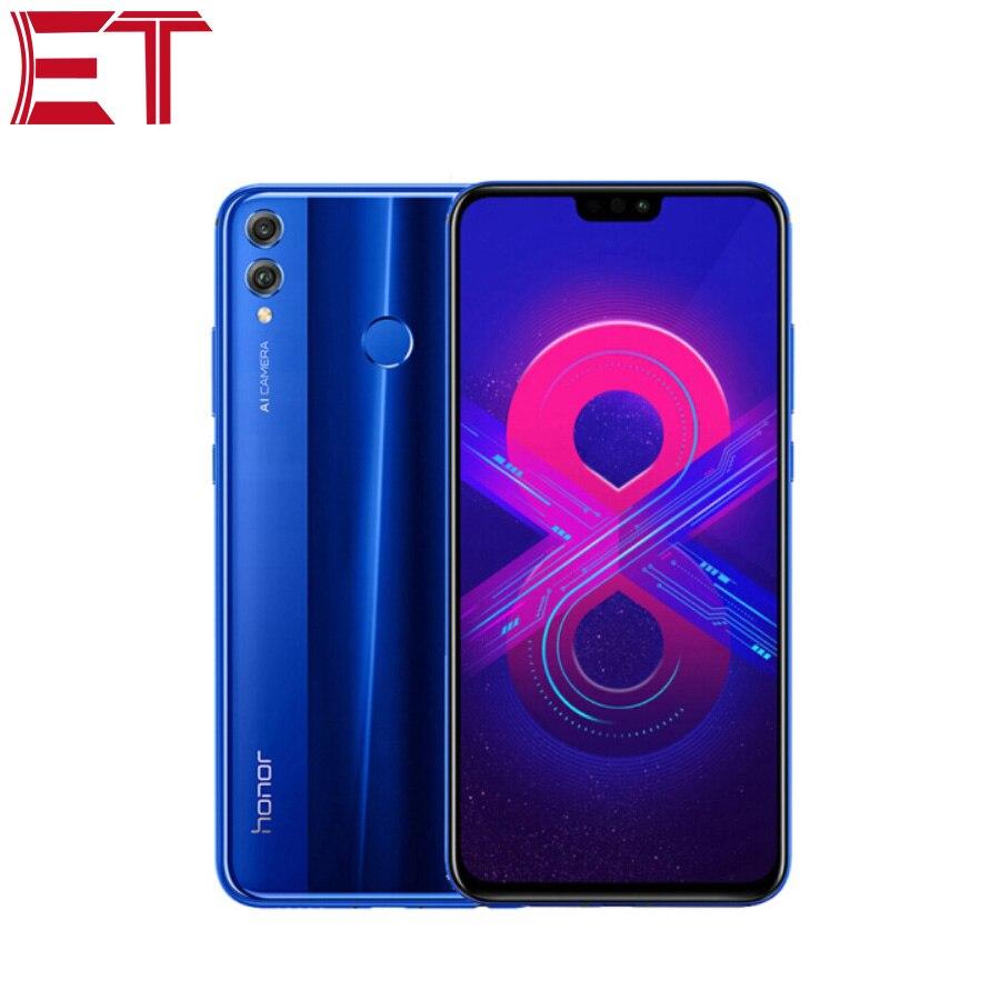 Nouveau téléphone portable Original Honor 8X téléphone portable 4G LTE 6 GB RAM 128 GB ROM HiSilicon Kirin 710 Octa Core 20.0MP + 2.0MP caméra arrière