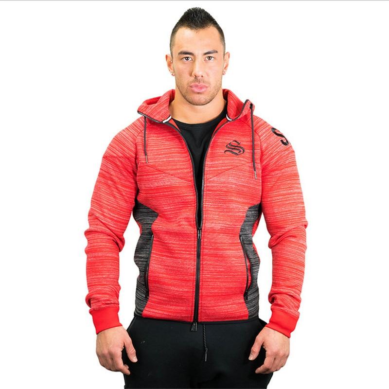 2017 New Brand Autumn Winter Bodybuilding Hoodies Men Animal Gyms Sweatshirts Long Sleeve Cotton Sportwear Fitness Pullover 5