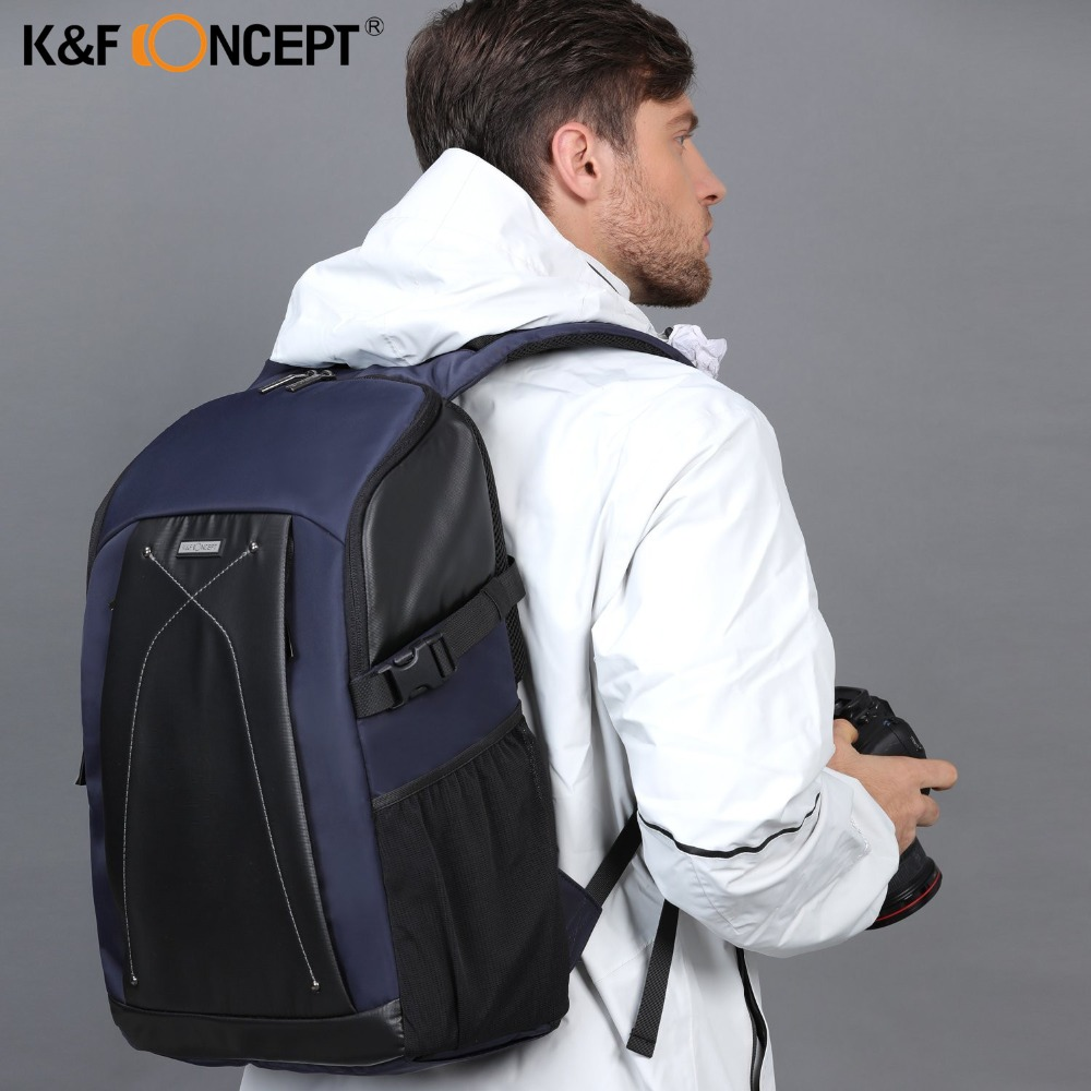 K&F CONCEPT Multi-functional Waterproof DSLR Camera Shoulder Bag Professional Video Photo Backpack With PE Boards For Photograph free shipping new lowepro mini trekker aw dslr camera photo bag backpack with weather cove