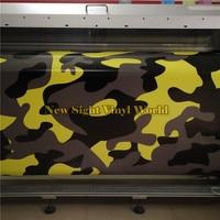 Jumbo желтый тигр камуфляж винил обёрточная бумага плёнки пузырьков для стайлинга автомобилей