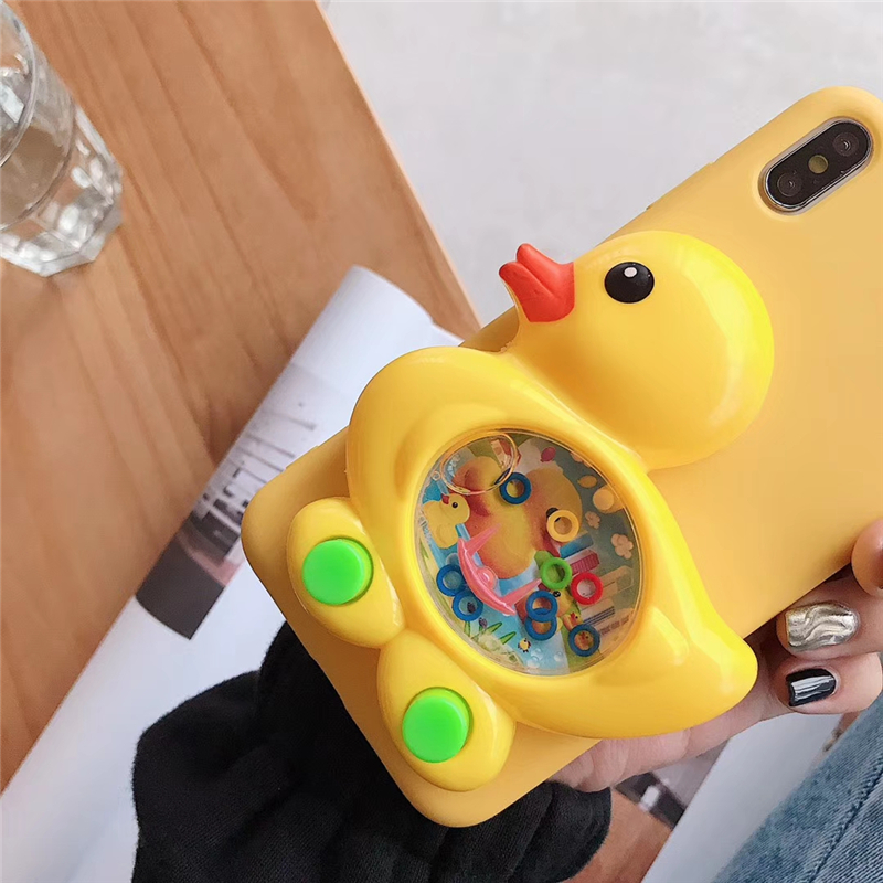 3D Game Duck Case Liquid Soft Silicone Cover for Huawei P8 P9 P10 P20 P30 Lite Pro P Smart Plus Mate 9 10 20 X Reduce Stress Toy in Fitted Cases from Cellphones Telecommunications