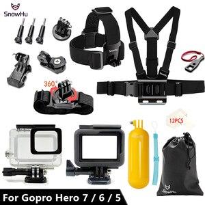 Image 2 - Snowhu Cho GoPro Bộ Phụ Kiện Cho GoPro Hero 7 6 5 Túi Chống Nước Bảo Vệ Khung Monopod Cho Đi Pro 7/ 6/5 GS73