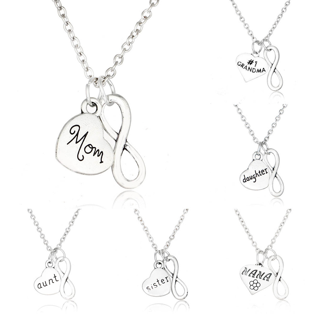aunt grandpanecklaces daughter uncle women her heart xmas gifts son grandpa brother grandma mum mom necklace dad rose gold products mother for silver sister color