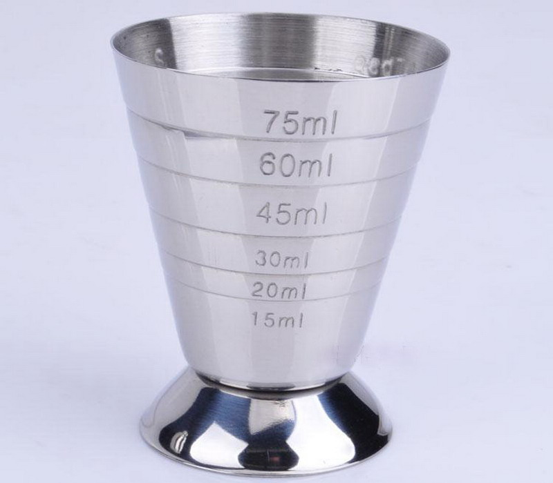 Stainless steel magic scale cup indispensable metal tool bar measure cup