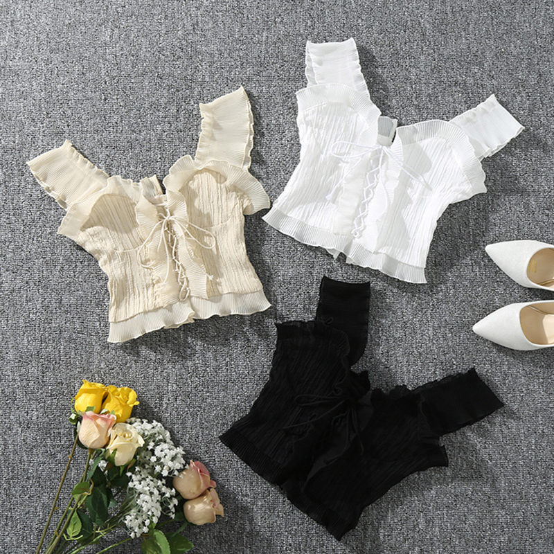 Shintimes 2018 New Summer Autumn Bustier White Black Tank Top Female Sexy Bandage Sleeveless Crop Top Zipper Woman Clothes