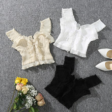 Shintimes 2018 New Summer Autumn Bustier White Black Tank Top Female Sexy Bandage Sleeveless Crop Top Zipper Woman Clothes(China)