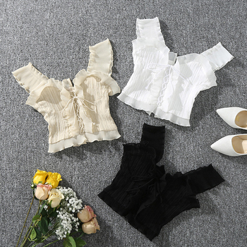Shintimes 2020 New Summer Autumn Bustier White Black Tank Top Female Sexy Bandage Sleeveless Crop Top Zipper Woman Clothes