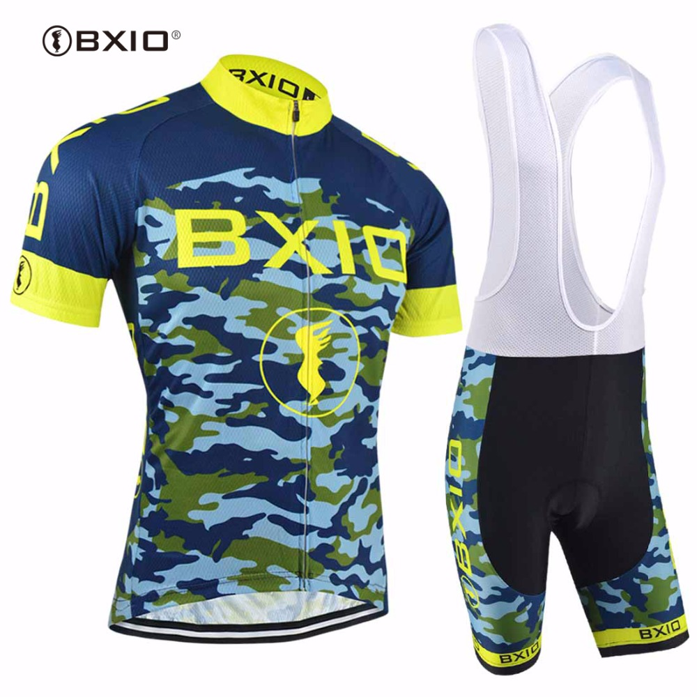 Bxio Blue Camouflage Cycling Sets Cool Maillot Pro Cycling Cloth - Wielersport