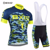 Bxio Blue Camouflage Cycling Sets Cool Maillot Pro Cycling Cloth Popular Bicycle Wear MTB Bike uniform Men Roupa De Ciclismo 052