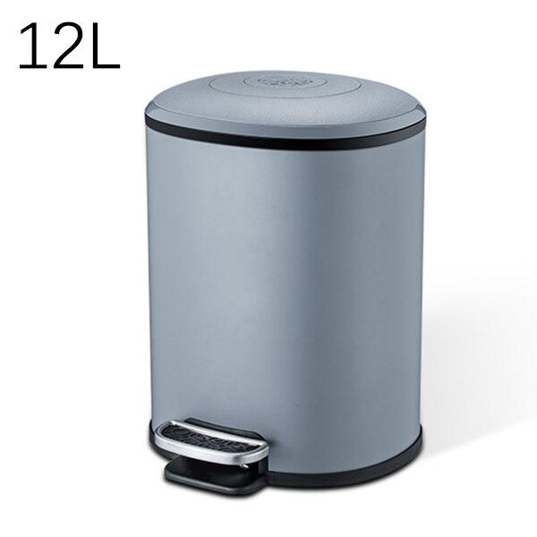 MR. BIN 5L/12L Классическая педаль мусорное ведро металлическое ведро и ABS Тихая корзина для мусора с крышкой современный простой домашний мусорный мусор - Цвет: 12L Grey
