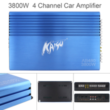 3800W Car Amplifier Class AB Digital 4 Channel Blue 12V Aluminum Alloy High Power Car Stereo Audio Amplifier Amp for Car Home 160w 2 bluetooth tda7498e home digital amplifier stereo hi fi audio power amplifier apt x