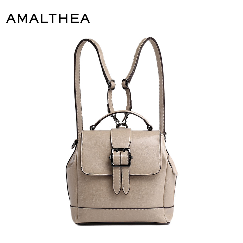 AMALTHEA Brand Fashion Backpacks School Bags For Teenagers Women Split Leather Backpack Women Bag 2017 Woman Back Pack AMAS012 скейтборды penny комплект лонгборд original 22 ss