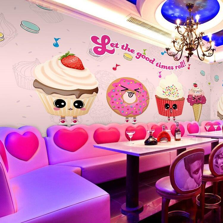 Photo wallpaper dessert milk shop bread cake
