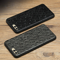 Luxury Genuine Leather Phone case For HUAWEI Nova 2S Ostrich texture Soft shell all inclusive Case For Mate 9 10 Pro P10 Plus V9