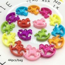 Meideheng spring color hanging hole children pendant baby Toy Trojan DIY Necklace Pendant children popular fare well 44pcs/bag