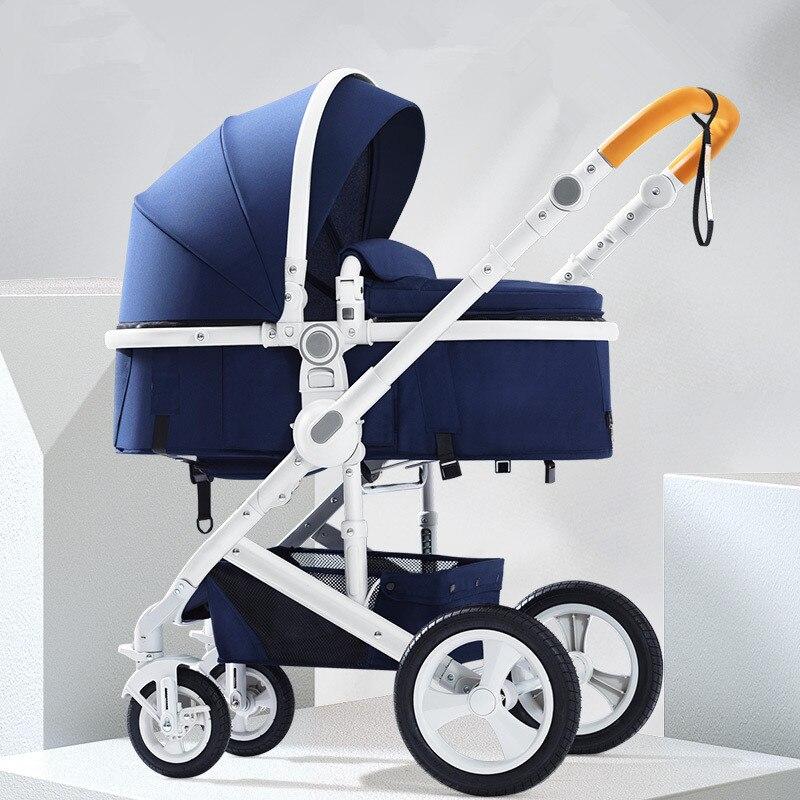Multifonctionnel réglable luxe bébé poussette Portable haut paysage réversible poussette maman chaude poussette landau Bebek Arabasi