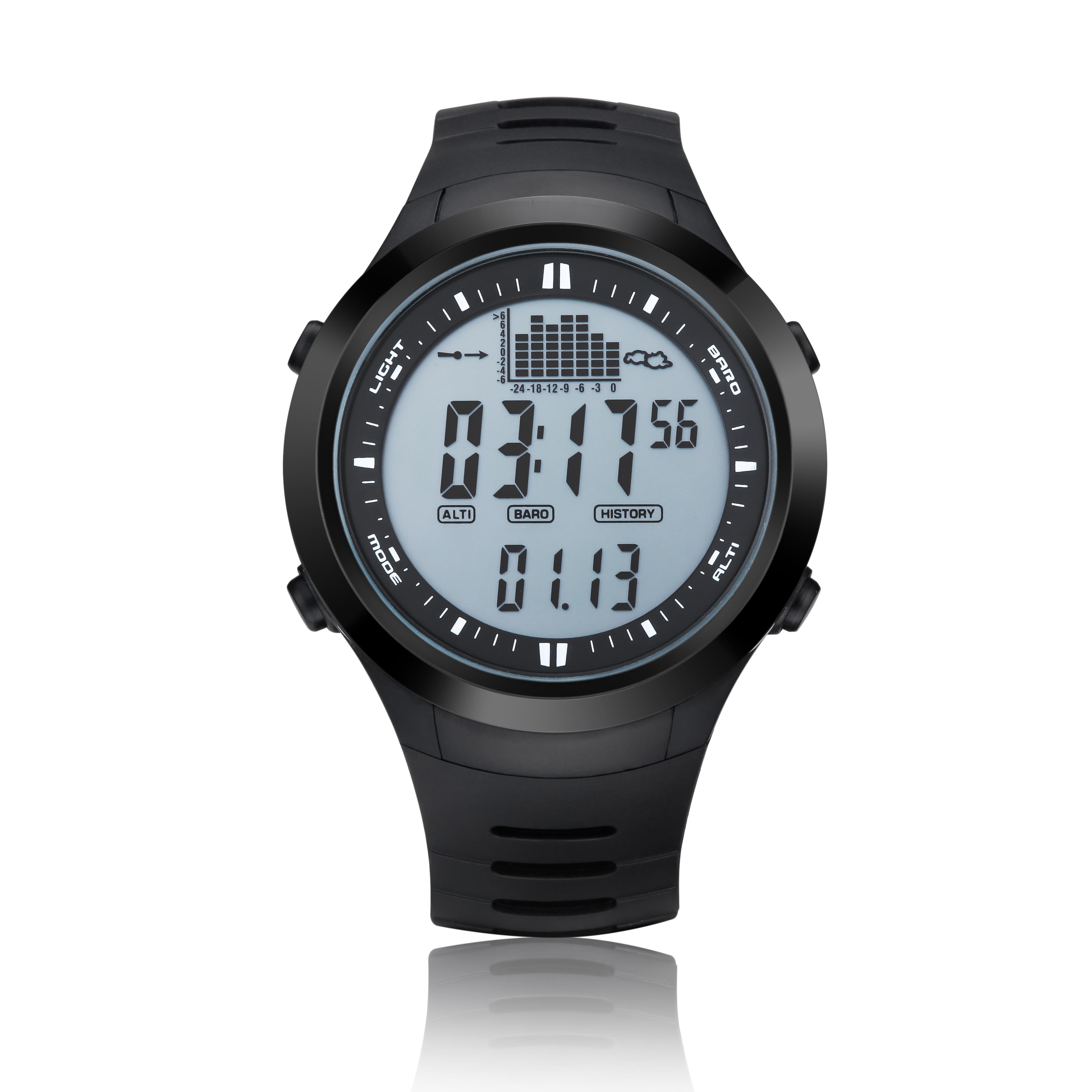 Fishing Watch Barometer 3ATM Waterproof Thermometer Altimeter Men Military Sports Digital Wristwatches Spovan SPV709 2018 New status vac rec 05
