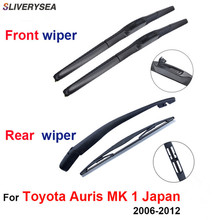 QEEPEI Front and Rear Wiper Blade Arm For Toyota Auris Mk 1 Japan 2006-2012 3/5-door Hatchback High quality Natural Rubber