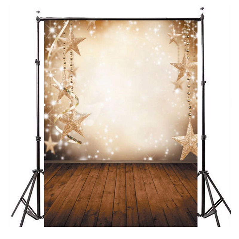 Top Deals Vinyl Valentine Day Christmas Photography Backdrop Photo Background Five pointed star