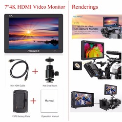 Feelworld F7S 7 Inch 3G-SDI HDMI Monitor 1920x1200 Full HD 4K HDMI Video Monitor with 7 IPS Video Display for Camera/Video