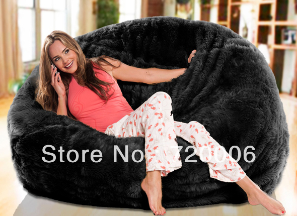 Admirable Free Shipping Hotsell Oversized Bean Bags Long Fur Black Pdpeps Interior Chair Design Pdpepsorg