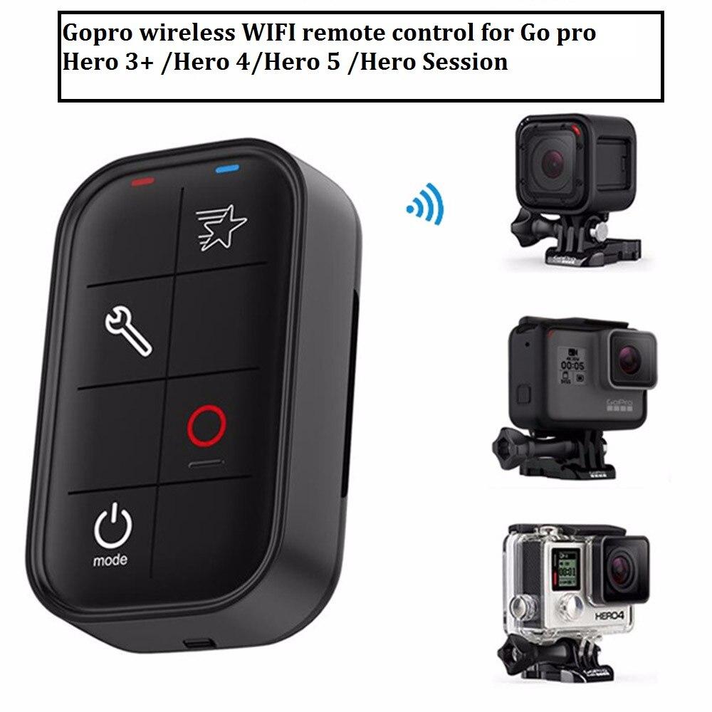 TELESIN Gopro водонепроницаемый Смарт WiFi Пульт дистанционного управления WiFi контроллер + RC зарядный кабель + ремешок для Gopro HERO 5 4S 4 3 +