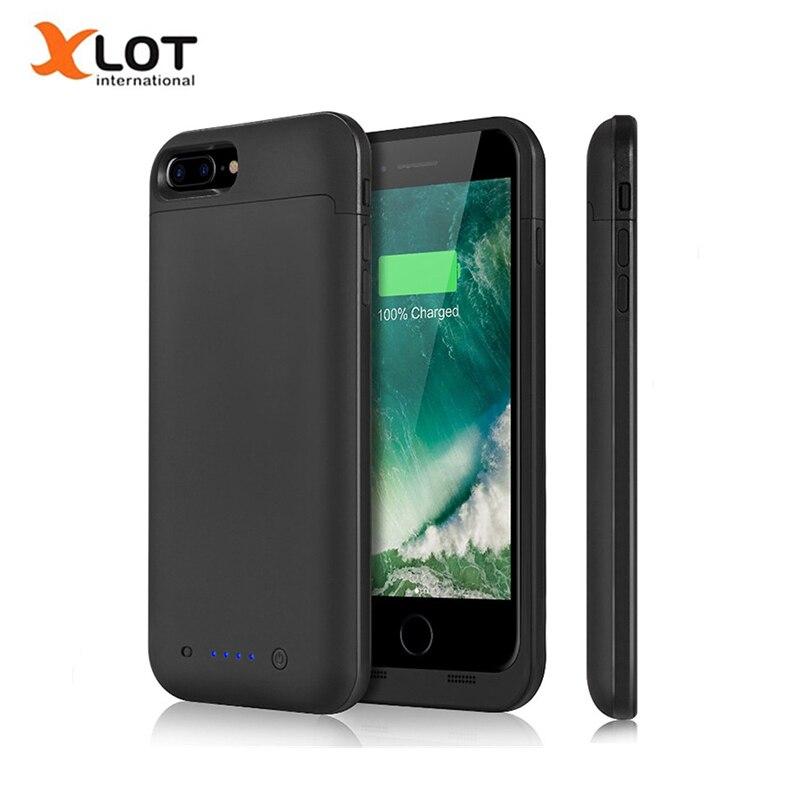 Цена за Внешний Батарея Зарядное устройство чехол для iPhone 7/7 Plus 4500/7000 мАч Портативный Мощность Bank телефон чехлы Резервное копирование Пакет зарядки случаях
