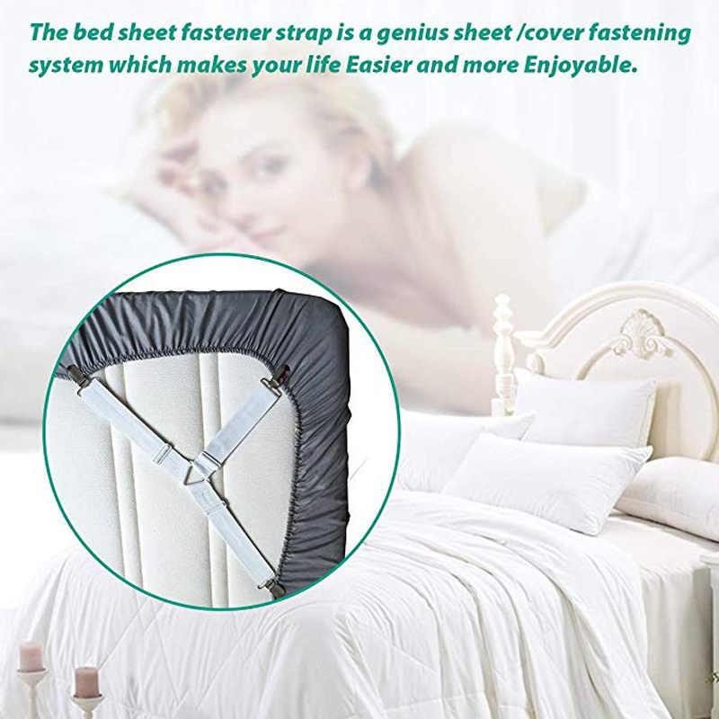 4 Teile/satz Elastische Bettlaken Greifer Gürtel Verschluss Bettlaken Clips Matratze Abdeckung Decken Halter Hause Textilien Organisieren Gadgets