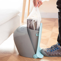 Household Pedal Trash Can Creative Living Room Kitchen Plastic Waste Container Bathroom Covered Garbage Can EPD061