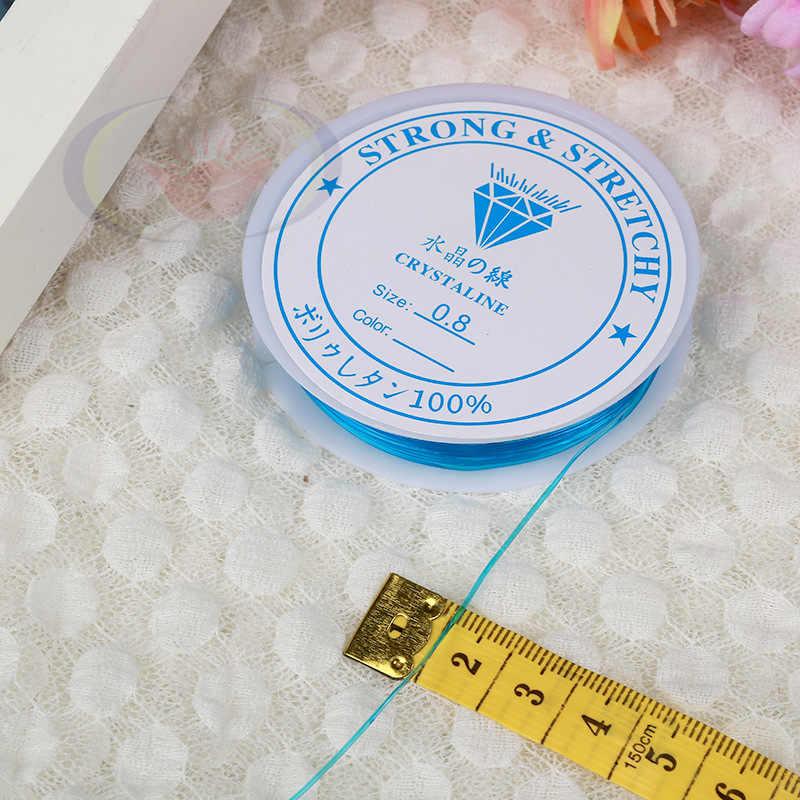1 قطعة جديد 0.4 مللي متر-1.2 مللي متر كريستال مطاطا الديكور خط الحبل الموضوع سلسلة تمتد سلك الموضوع ل سوار ذاتي الصنع الخياطة الحرف أدوات