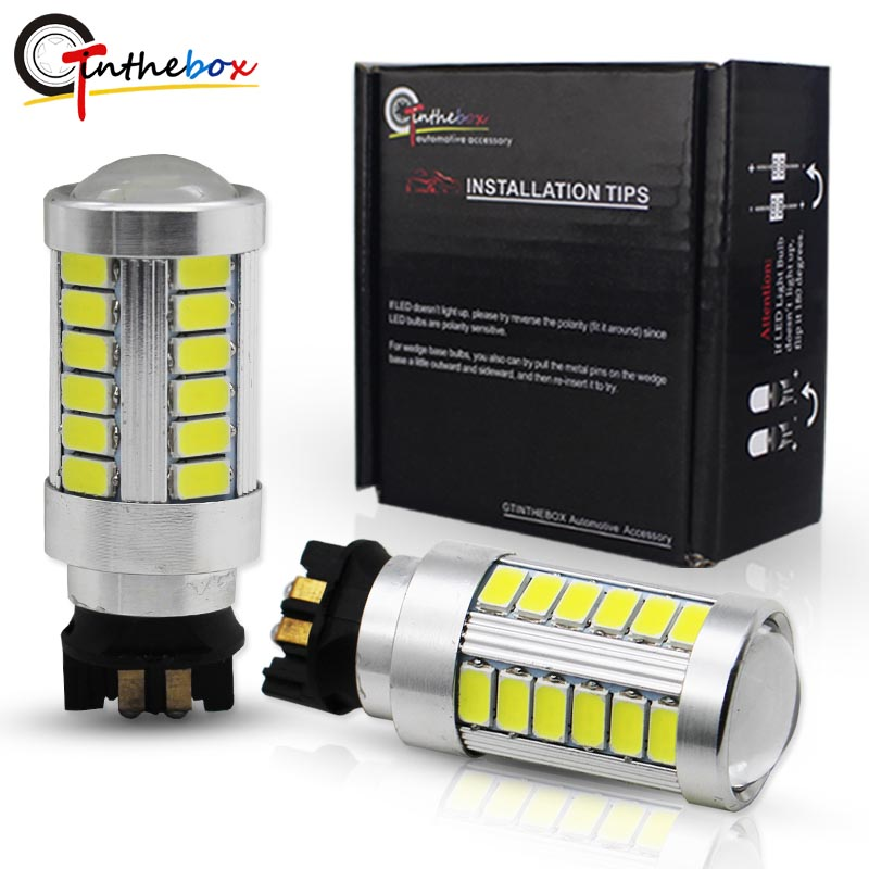Gtinthebox 33-SMD PW24W PWY24W LED <font><b>Bulbs</b></font> For Audi <font><b>BMW</b></font> Volkswagen Turn Signal <font><b>Lights</b></font> or <font><b>Daytime</b></font> <font><b>Running</b></font> <font><b>Lights</b></font> 12V image