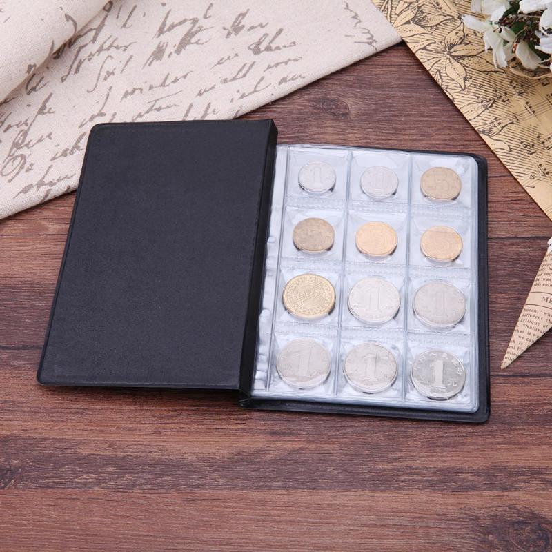 10 Pages 120 Pockets album for Coins Collection Book Home Decoration photo album PVC Coin Album Holders Collection Book wedding photo album pvc sheets 400pcs 260x260mm photo book pvc double side adhesive mounting sheets