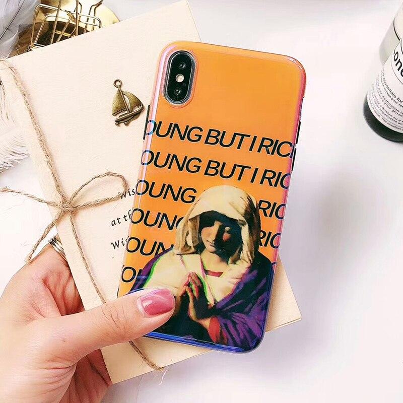 BROTOLA для iPhone 6 силиконовый чехол Божией Матери телефон чехлы для iPhone 7 X 6s 8 плюс мода ТПУ мягкая задняя обложки Ретро Чехол