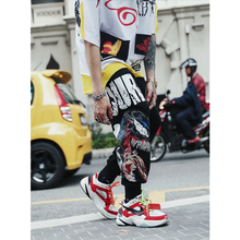 UNCLEDONJM Easyfit Graffiti Casual Pants Mens Hip hop Swag Ins City Fashion Dance Men 074W