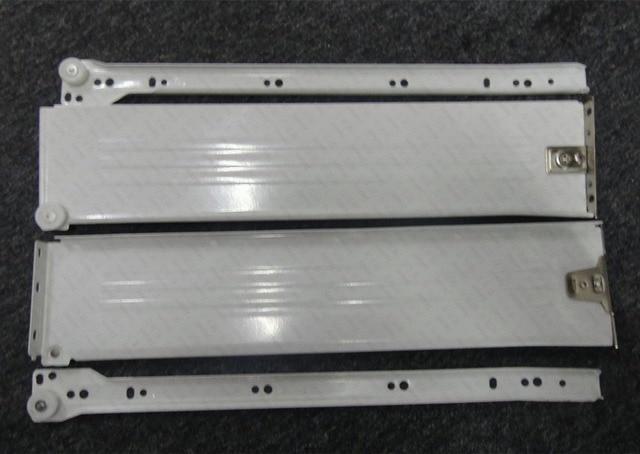 1Pair/LOT H86*D500mm Metal Box Metabox Single Wall Drawer Slide Runners Rail Kitchen Bath Furniture Cabinet